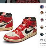 Terjual Rp8,33 Miliar, Sneakers Air Jordan 1 Bekas Michael Jordan Pecahkan Rekor Penjualan Sotheby's