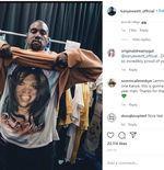 Gila! Kanye West Menonton Play-off NBA di Layar Televisi Setinggi 30 Meter
