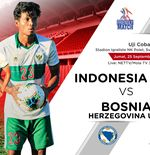 Link Live Streaming Timnas U-19 Indonesia vs Bosnia-Herzegovina U-19