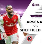 Link Live Streaming Arsenal vs Sheffield United di Liga Inggris