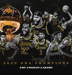 Momen Emosional LA Lakers, Juara di Tahun yang Sama dengan Meninggalnya Kobe Bryant