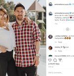 Antonela Roccuzzo Perkenalkan Maskot Baru dalam Keluarga Lionel Messi