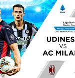 Link Live Streaming Liga Italia: Udinese vs AC Milan