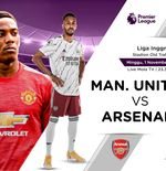 Link Live Streaming Liga Inggris: Manchester United vs Arsenal