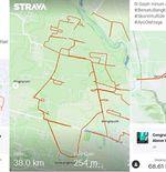 Skor Virtual Ride: Kreativitas Peserta Membentuk Gambar Gajah, Kuda Lumping, hingga Wajah Manusia