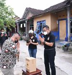 Minta Doa Restu, Bhayangkara Solo FC Salurkan Bantuan untuk Warga
