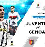 Link Live Streaming Juventus vs Genoa di Coppa Italia