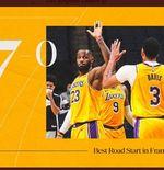 Hasil NBA: Menang Lagi, LA Lakers Nyaman di Puncak Klasemen Wilayah Barat