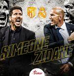 Diego Simeone vs Zinedine Zidane: Statistik Dua Pelatih Terbaik Jelang Derbi Madrid