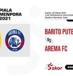 Link Live Streaming Piala Menpora 2021: Barito Putera vs Arema FC