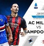 Link Live Streaming AC Milan vs Sampdoria di Liga Italia