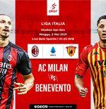 Link Live Streaming Liga Italia: AC Milan vs Benevento