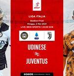 Link Live Streaming Udinese vs Juventus di Liga Italia