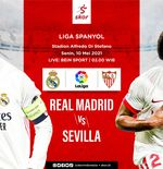 Link Live Streaming Real Madrid vs Sevilla di Liga Spanyol