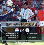 VIDEO: Gol Cantik Dennis Bergkamp Penentu Kemenangan Belanda atas Argentina