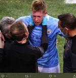Retak Tulang Hidung, Kevin De Bruyne Terancam Absen pada Piala Eropa 2020