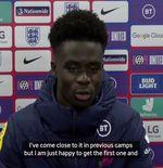 VIDEO: Bukayo Saka Semringah Buka Keran Gol di Timnas Inggris