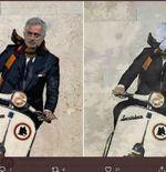 Setelah Tensi Tinggi di Liga Inggris, Rivalitas Jose Mourinho vs Maurizio Sarri Dibawa ke Derbi Roma