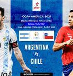 Link Live Streaming Argentina vs Cile di Copa America 2021