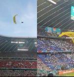 Piala Eropa 2020: Seorang Penerjun Payung Jatuh di Tengah Laga Prancis vs Jerman