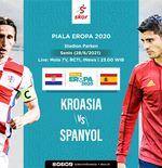 Link Live Streaming Kroasia vs Spanyol di Euro 2020