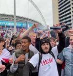 VIDEO: Ekspresi Kegembiraan Fans Inggris setelah Kemenangan atas Jerman