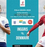 Link Live Streaming Inggris vs Denmark di Euro 2020