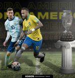 Lionel Messi vs Neymar di Final Copa America 2021