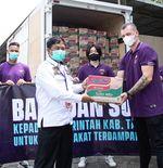 Manajemen Persita Salurkan Bantuan Sosial, Bupati Tangerang Sampaikan Apresiasi