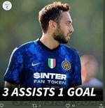 VIDEO: Hakan Calhanoglu Cetak Satu Gol dan Hat-Trick Assist untuk Inter Milan dalam Uji Coba