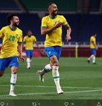 Hasil Sepak Bola Putra Olimpiade Tokyo: Gol Matheus Cunha Bawa Brasil ke Semifinal