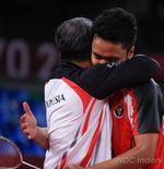 Hasil Bulu Tangkis Olimpiade Tokyo: Epic, Anthony Sinisuka Ginting ke Semifinal