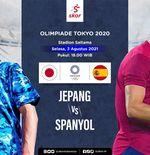 Link Live Streaming Semifinal Sepak Bola Putra Olimpiade Tokyo 2020: Jepang vs Spanyol