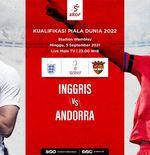 Hasil Inggris vs Andorra: Tim Tiga Singa Cukur Lawan 4 Gol Tanpa Balas