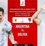 Link Live Streaming Kualifikasi Piala Dunia 2022: Argentina vs Bolivia