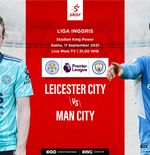 Link Live Streaming Leicester City vs Manchester City di Liga Inggris
