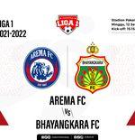 Prediksi Liga 1 2021-2022: Arema FC vs Bhayangkara FC