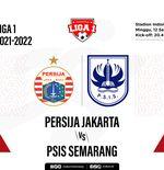 Prediksi Liga 1 2021-2022: Persija Jakarta vs PSIS Semarang
