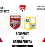 Link Live Streaming Borneo FC vs Barito Putera