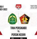 Prediksi Liga 1 2021-2022: Tira Persikabo vs Persik Kediri