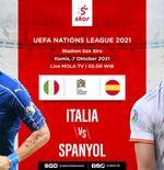 Link Live Streaming Italia vs Spanyol di UEFA Nations League 2021