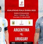 Link Live Streaming Argentina vs Uruguay di Kualifikasi Piala Dunia 2022