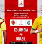Link Live Streaming Kolombia vs Brasil di Kualifikasi Dunia 2022