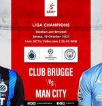 Link Live Streaming Club Brugge vs Manchester City di Liga Champions