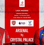 Link Live Streaming Arsenal vs Crystal Palace di Liga Inggris