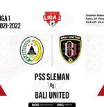 Hasil PSS Sleman vs Bali United: Tren Negatif Bali United Terhenti Usai Tumbangkan Elang Jawa