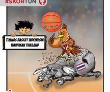 Skortun, timnas basket Indonesia tundukkan Thailand.