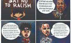 Skortun, para atlet bersatu melawan rasialisme.