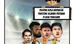 Pesepak bola Indonesia pencetak sejarah pertama di Asia Tenggara.