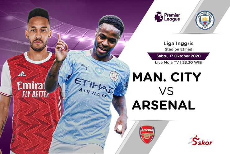 Link Live Streaming Liga Inggris: Manchester City vs Arsenal